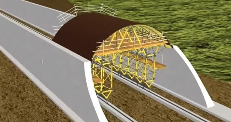 Carro de encofrado para túneles MK