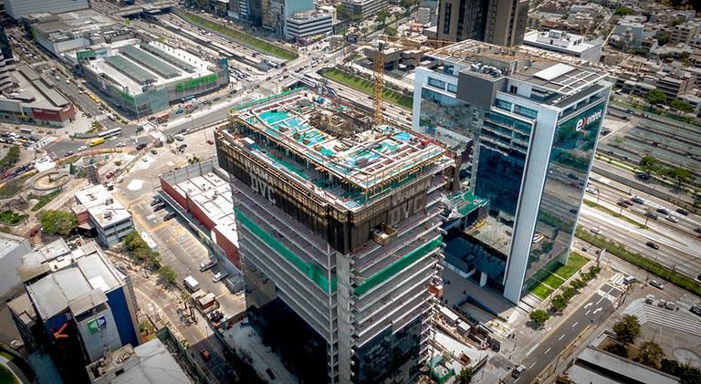 Con los encofrados ULMA se ha conseguido optimizar recursos y garantizar la seguridad en la construcción de la Torre República